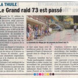 Le Grand raid 73 est passé à La Thuile