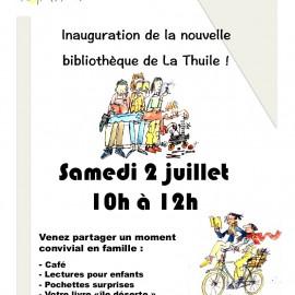Inauguration de la bibliothèque !