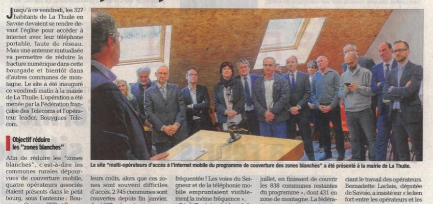Inauguration de la 3G à La Thuile