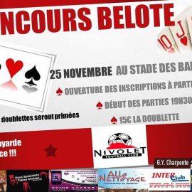 FC NIVOLET concours de belote – 25 novembre