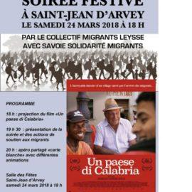 Soirée festive à Saint Jean d'Arvey samedi 24 mars 2018