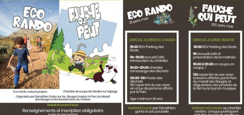 Eco-rando et Fauche qui peut !
