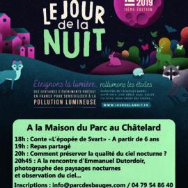 Rendez-vous à la maison du Parc au Châtelard pour fêter la nuit noire à l'occasion du «Jour de la nuit